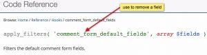 edit wordpress comment form