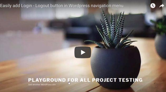Easily add Login – Logout button in WordPress navigation menu