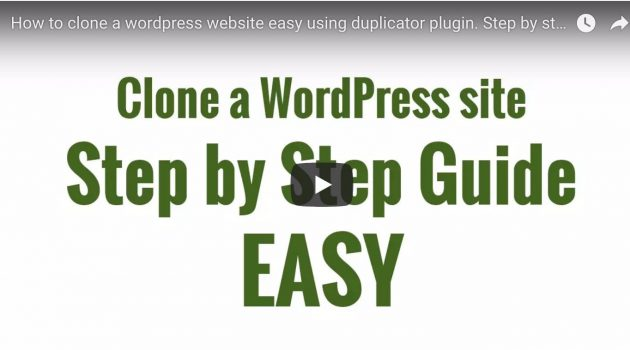 How to clone a wordpress website easy using duplicator plugin. Step by step guide