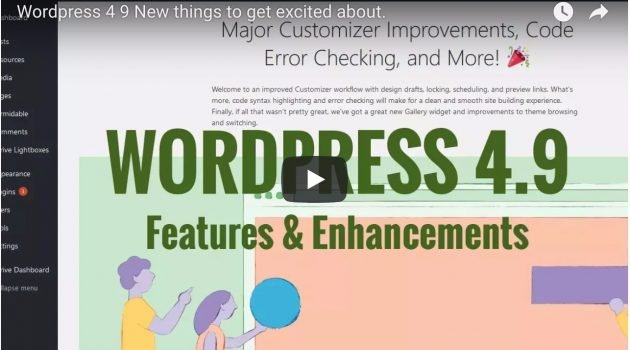 WordPress 4.9 Tipton – New things to get excited about