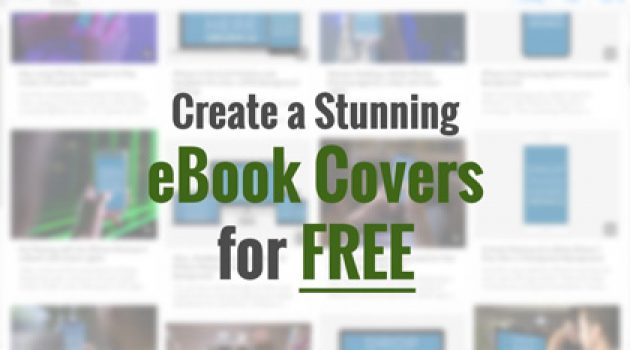 Create a stunning beautiful eCover for FREE