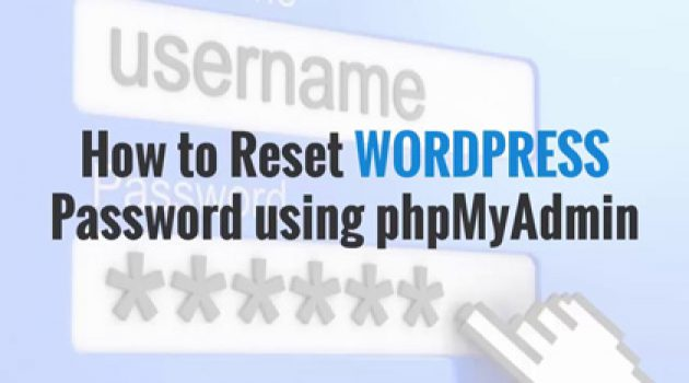 How to reset wordpress password using phpMyadmin